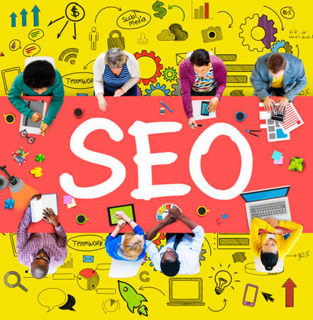 internet business: Search Engine Optimization Business Strategy Marketing Concept Stock Photo