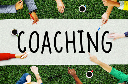 role model: Coach Coaching Skills Teach Teaching Training Concept Stock Photo