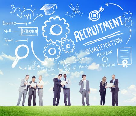 ethnicity: Ethnicity People Recruitment Digital Divices Searching Concept