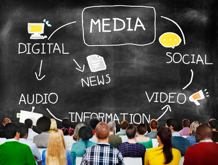 Digital Media Information Medium News Concept Banco de Imagens
