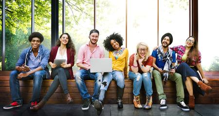 diversidad: Diversidad Adolescentes Amigos Amistad Equipo Concepto Foto de archivo