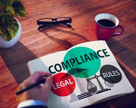 준수 법률 규정 컴플라이언스 준수 개념 스톡 콘텐츠