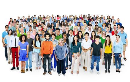 다양한 다양성 민족 인종 공생 화합 개념