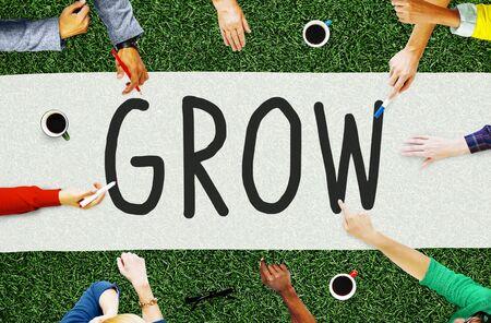 career development: Grow Growth Development Improvement Increase Concept