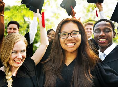 high school graduation: Graduation Student Commencement University Degree Concept