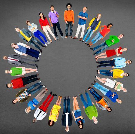 etnia: People Diversity Group Global Community Ethnicity Concept Foto de archivo
