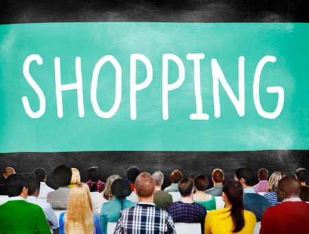 consumerism: Shopping Retail Shopaholic Consumerism Market Concept Stock Photo
