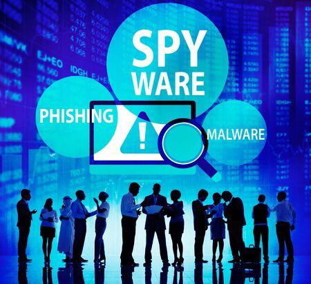 Spyware Hacking Phishing Malware Virus Concept Stock Photo