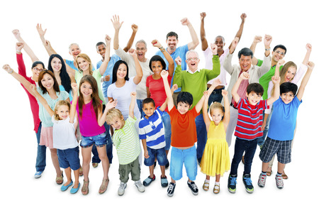 adult indian: Group of People Community Celebration Happiness Concept Stock Photo