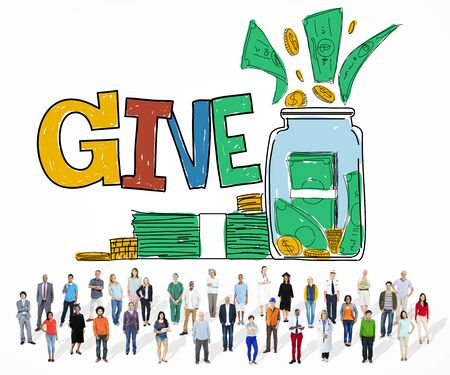 provide: Give Help Donation Charity Volunteer Concept Stock Photo