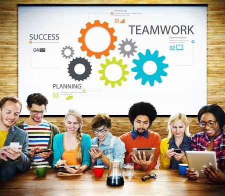 COLABORACION: Trabajo en equipo Colaboración en equipo Conexión Unidad Unión Concept
