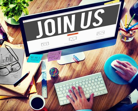 computer services: Join Us Invitation Support Business Concept