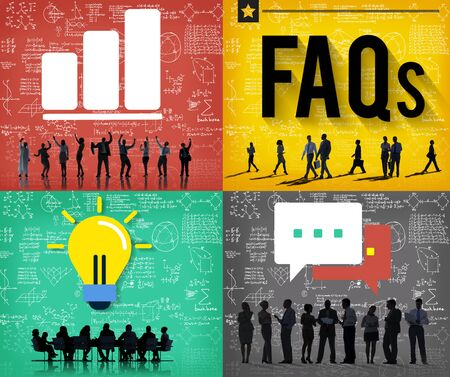 faq's: FAQs Guidance Answers Questions Feedback Concept Stock Photo