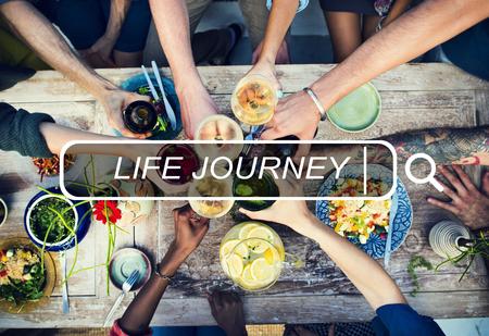 人生の旅の旅探査遠征観光コンセプト 写真素材