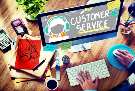 Customer Service Call Center Agent Care Concept Banco de Imagens