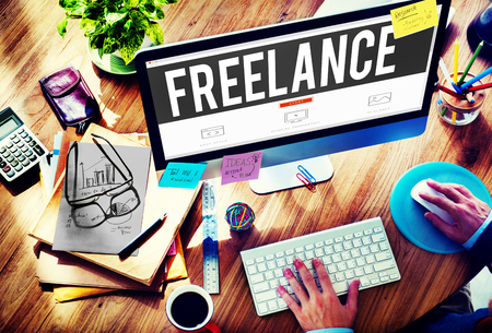 place of employment: Freelance Part time Outsources Job Employment Concept