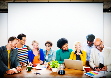 Business Casual People Office Working Discussion Team Concept