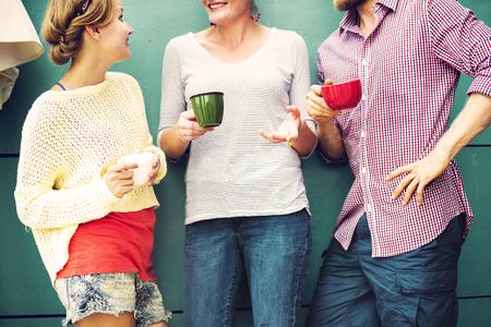 상호 작용 개념 사교 채팅 그룹 사람들 스톡 콘텐츠