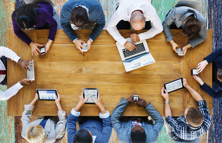 technologie: Komunikační napojení Přístroje číslicové Technology Concept Reklamní fotografie
