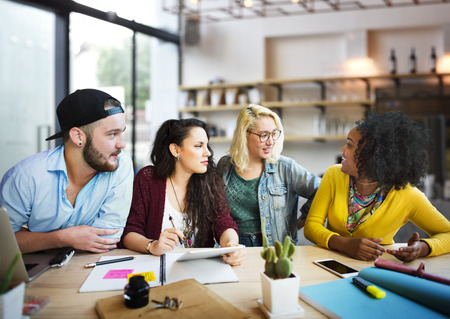 Meeting Talking Discussion Brainstorming Communication Concept Stock Photo