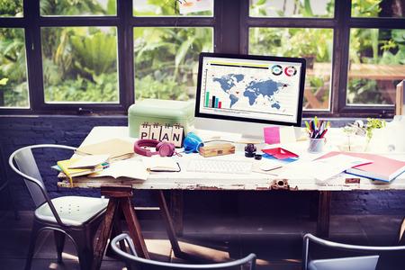 Planifiez Concept Stratégie Global Vision de planification d'entreprise