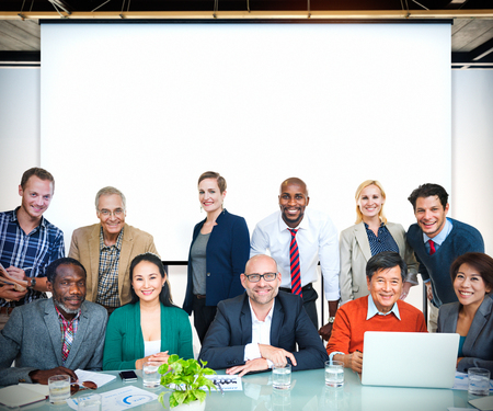 team building: Business People Casual cooperation Cheerful Concept