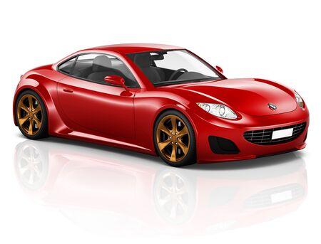 3D Sport Car Transporte Vehículo Ilustración Concepto Foto de archivo - 49334356