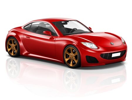 sport car: 3D Sport Car Vehicle Transportation Illustration Concept
