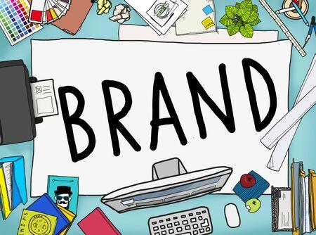 office stuff: Branding Trademark Marketing Name Concept Stock Photo