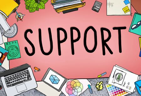 office stuff: Support Teamwork Advice Assistance Togetherness Concept