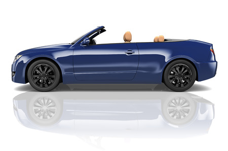 alloy wheel: Car Convertible Transportation 3D Illustration Concept