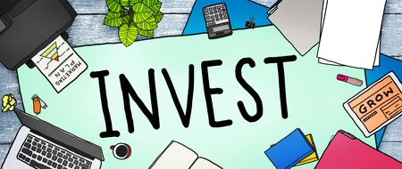 investment banking: Invest Investment Fund Revenue Income Concept