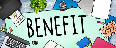 office stuff: Benefit Income Incentive Profit Bonus Concept