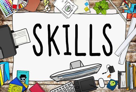 techniek: Vaardigheden Vermogen Capaciteit Talent Techniek Concept Stockfoto