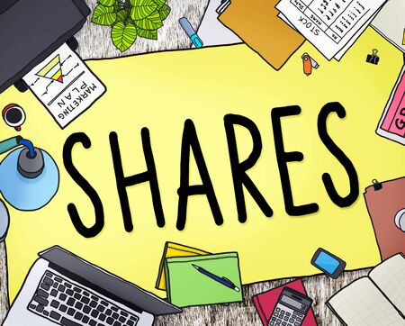 chunk: Shares Sharing Help Give Dividend Concept Stock Photo