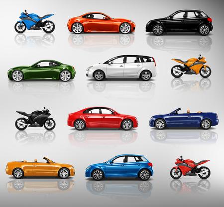roadster: Motorbike Car Roadster Transportation Concept