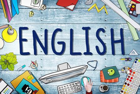 Inglés Británico Inglaterra Idioma Concepto de educación Foto de archivo - 46137450