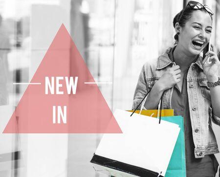 lifestyle shopping: Woman Lifestyle Shopping Shopaholics Holidays Concept