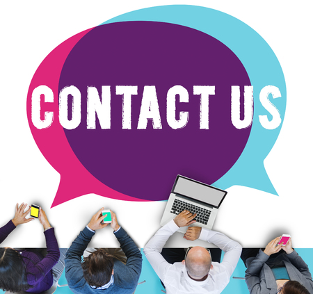 contact us: Contact Us Hotline Info Service Customer Care Concept