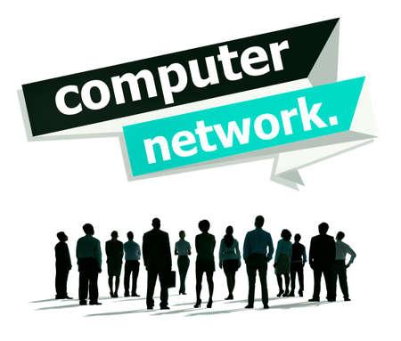 computer netzwerk: Computer Network Technology Computing Internet Concept