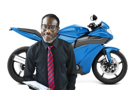other keywords: Motorbike Motorcycle Bike Roadster Transportation Concept Stock Photo