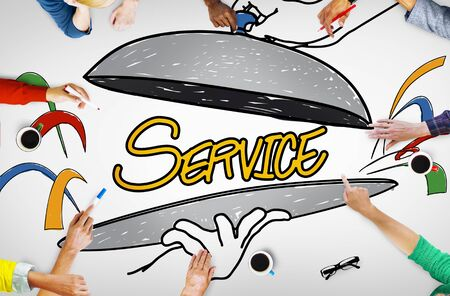 sketch drawing: Customer Service Quality Platter Sketch Drawing Concept
