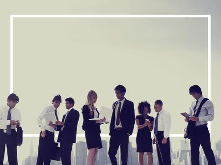 trabajando: Gente de negocios de Nueva York Concepto Reunión de Trabajo Foto de archivo