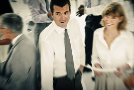 social worker: Business People Corporate Communication Office Team Concept Stock Photo