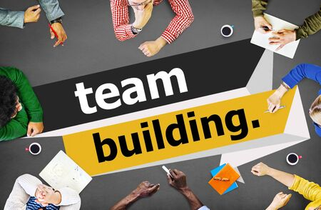 team cooperation: Team Building Cooperate Cooperation Management Concept