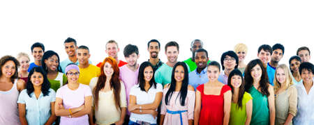 college student: Studio Shot of Large Group of Young Adult Concept