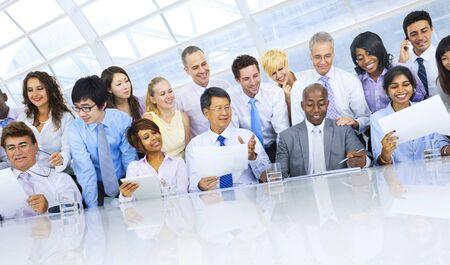 organised: Group of Business People Meeting Teamwork Concept