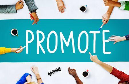 promover: Promover an�ncio Commerce Marketing conceito de produto