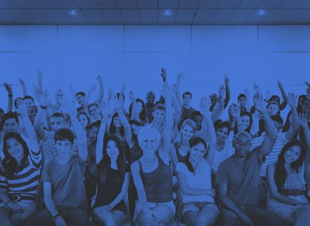 Groupe Foule coopération Suggestion Volunteer Concept Banque d'images - 46138726
