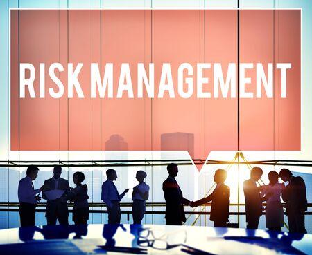 risk analysis: Risk Management Hazard Dangerous Prevent Protect Concept